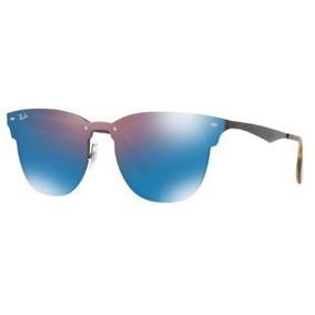 309278ee69e53 Oculos Sol Ray Ban Blaze Clubmaster Rb3576n 153 7v 47mm