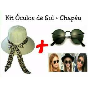 5a495ef97803c Chapéu De Praia Blogueira - Óculos no Mercado Livre Brasil