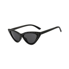 2372c9c6c85d9 Óculos Sol Gatinho Cat Eye Vintage Retrô Cravejado 90s Uv400