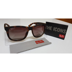cbc50932b Óculos De Sol Ray-ban Justin 4165 Marrom Tartaruga Original. R$ 240