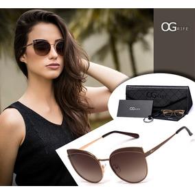 dd60cd8e0 Oculos Ogrife Solar Feminino Og 1288-c Proteção Uv Original