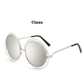 e2dc15a2c7d9f Óculos Sol Feminino Grande Mercado Espelhado Rb Vintage Diva