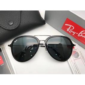 569f94d252e0f Oculos Ry Ban Aviador Dourado Com Lente Gradiente De Sol Ray ...