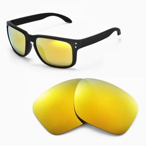 6999dd8dc21a3 Óculos Oakley Holbrook Matte Clear   24k Polarizado - Óculos no ...