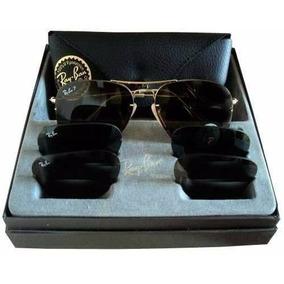 46317c1272aa7 Óculos Ray Ban Aviador Que Troca As Lentes Lançamento! - Óculos no ...