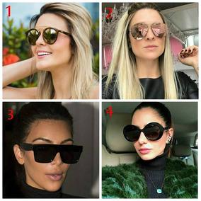 91eaa56bd3460 Óculos Sol Feminino Rosto Redondo Quadrado Uv400 Caixinha - Óculos ...
