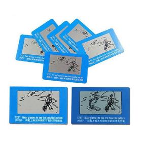 a012f06808b1a 2 Cartões De Teste Lentes Polarizadas De Óculos Polarizado