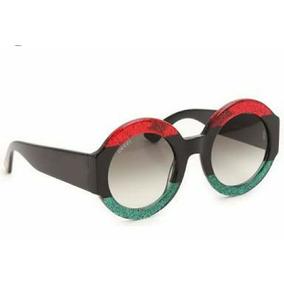 03f9f03dd Óculos Feminino Tendencia Blogueira Redondo Luxo Madame Chic
