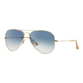 9929be44c Oculos Sol Ray Ban Aviador Rb3025 001 3f Dourado Azul Degrad