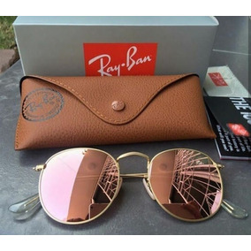 e8711dd5b0ac4 Rayban Redondo Round Rb3447 Rose Feminino Vintage Cristal