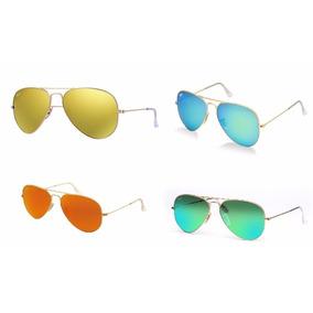 93e8057216a67 Oculos Aviator Espelhado Tamanho Medio De Sol Ray Ban - Óculos no ...