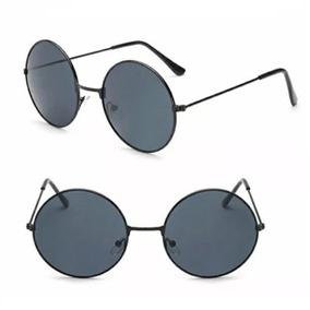 bc9f07acaab1e Óculos De Sol Redondo Feminino Masculino Estilo Ozzy Retrô