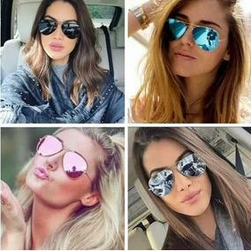 717cf430d Oculos Sol Feminino Aviador Fucsia - Óculos no Mercado Livre Brasil