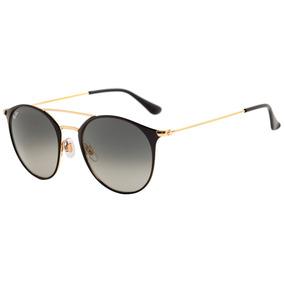 06aeffcdd7774 52 Ray Ban Rb3546 Dourado Preto 187 71 - Óculos no Mercado Livre Brasil