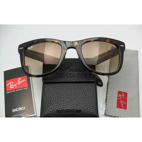 c5c600d60 Ray Ban Wayfarer Folding Rb 4105 Tartaruga Lente Marrom - Óculos no ...