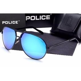 321cb83f70201 Óculos De Sol Aviator Azul Polarized Sunglasses Police 2017