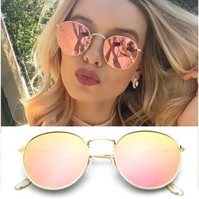 3672ab11ced61 Oculos Redondo Espelhado Rosa - Óculos no Mercado Livre Brasil