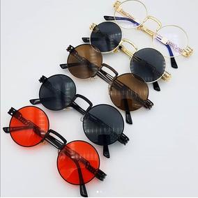 804d5fbd6 Óculos Sol Steampunk Redondo Vintage Retrô Circular