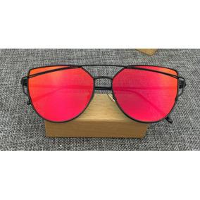 4f299b815b687 Óculos De Sol Espelhado Feminino Metal Olho De Gato Gatinho. R  37