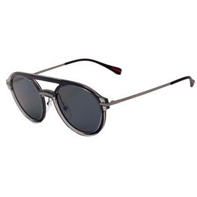 75b8053c648ba Prada Ps 05ts - Óculos De Sol P2x 5z1 Preto Brilho  Preto Po