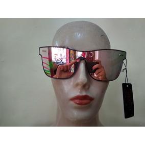 33322357b8 Óculos De Sol Sem Aro Reto Espelhado Rosa Ou Roxo Feminino