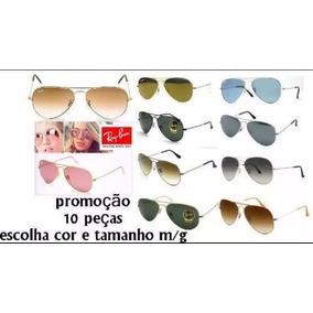 6a6f4e9a331d0 Óculos Aviador Várias Cores Lentes - Óculos no Mercado Livre Brasil