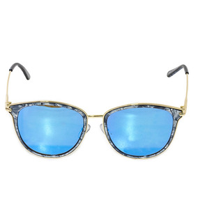 53b739e09dfb7 Óculos De Sol Feminino Espelhado Azul Lente Marmorizado Novo