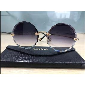 91aa04534c2f2 Oculos De Sol Redondo Jackson Grande Chloe Fake - Óculos no Mercado ...