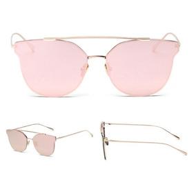3fb20c4e06fd6 Óculos De Sol Feminino Retro Espelhado Olho Gato Gatinho