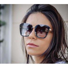ce9a82f39 Oculos De Sol Feminino Retangular Quadrado - Óculos no Mercado Livre ...