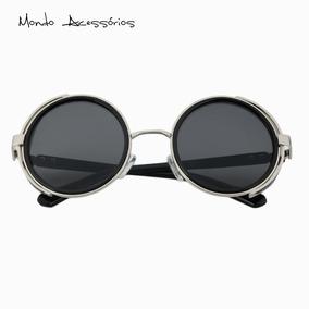 7537c10dc632f Óculos Punk Hipster Lente Redonda Retro Uv400 Frete Grátis