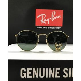 23a9b56334663 Óculos De Sol Ray Ban Rb3447 Round Redondo Tamanho P 50mm Pe