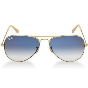 f099f2c1c7335 Ray-ban Aviador Dourado Lente Safira Azul Degradê Original