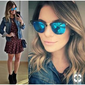 c6355401b20d6 Óculos De Sol Azul Estilo Chanel Lindo! - Óculos no Mercado Livre Brasil