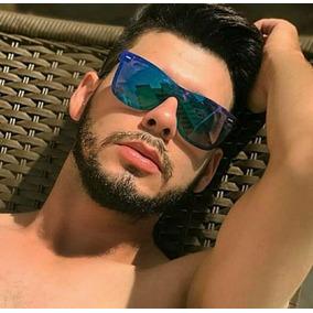 a96353401737b Óculos De Sol Unissex Quadrado Lente Azul Espelhado Preto. R  39 50