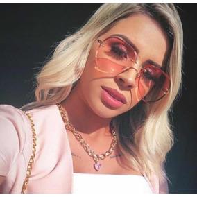 5ee0685902940 Oculos De Sol Feminino Sem Aro - Óculos no Mercado Livre Brasil