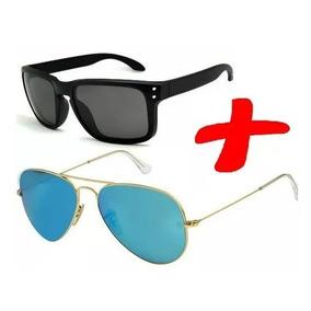 728f0ca9c84d9 Combo 2 Óculos Moda Praia Verão Masculino Aviador Retro Moda