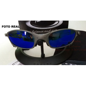 0ec6163223cdb Oculos Juliet Xmetal Lente Azul Blue Magic Polarizada U.s.a