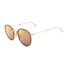 6cd7a25b7 Oculos Redondo Espelhado Masculino - Óculos De Sol Ray-Ban Round Sem ...