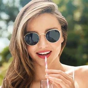 983e5d6c01aa3 Óculos De Sol Feminino Espelhado Redondo Vintage Verão 2019
