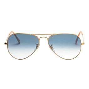 80c6824b0c30d Óculos New Ray Ban Aviator Rb3025 001 62 Gold crys De Sol - Óculos ...