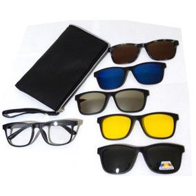 1f97e07cfded8 Armação Óculos Grau Clip On Sol Polarizado Espelhado 2201a