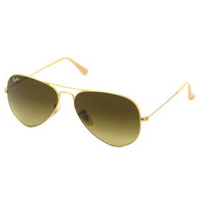239a8d01dfa7e 85 De Sol Ray Ban Aviator 58 Dourado Fosco 112 - Óculos no Mercado ...