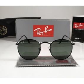 f9b5446eac23c Oculos Rayban Redondo Lente Preta De Sol - Óculos no Mercado Livre ...