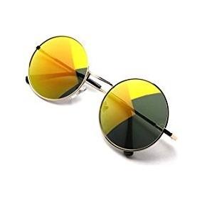 e7a66c2446921 Oculo Sol Redondo Espelhado Amarelo - Óculos no Mercado Livre Brasil