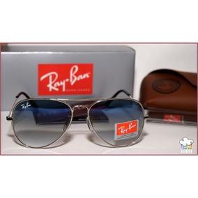 ea0676c435d85 Ray Ban Aviador 3025 Prata Lente Azul Degradê Frete Grátis - Óculos ...