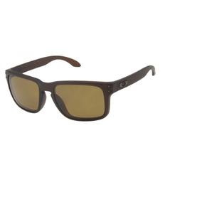334a16d859531 Óculos De Sol Oakley Holbrook Marrom Masculino Polarizado