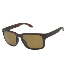13f8fb0da560e Óculos De Sol Oakley Holbrook Marrom Masculino Polarizado