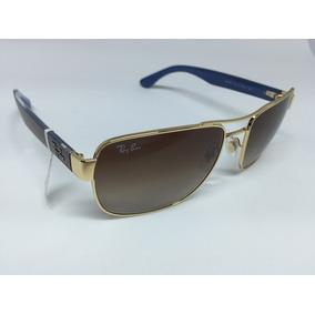 82949a250565c 13 Ray Ban Rb3470e Dourado Marrom 001 De Sol - Óculos no Mercado ...