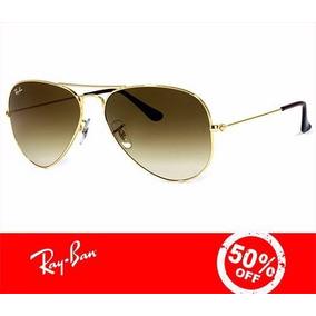 0c9ebbb4b7b43 Ray Ban Aviador Cor Dourado Verde Escuro - Óculos De Sol no Mercado ...